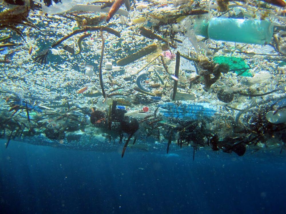 rubbish in the sea