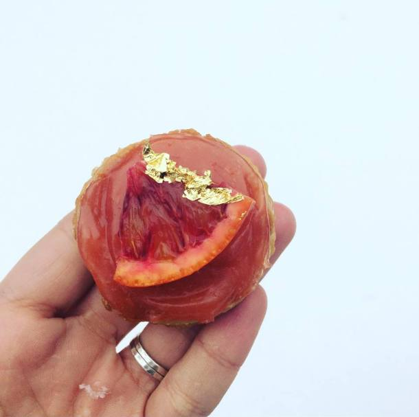 blood orange curd tart