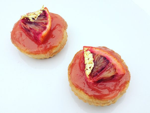 vegan blood orange curd tarts